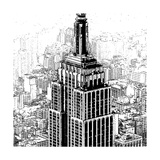Empire State Sketch Giclee Print by Shelley Lake
