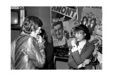 Françoise Hardy and the Rolling Stones's Singer, Mick Jagger Photographic Print by  Bouchara