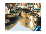 Burano Boats Premium Giclee Print by Shelley Lake