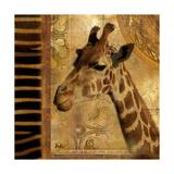 Elegant Safari III (Giraffe) Premium Giclee Print by Patricia Pinto