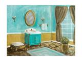 Golden Throne Room I Premium Giclée-tryk af Walt Johnson