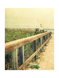Beach Rails I Premium Giclee Print by Lisa Hill Saghini