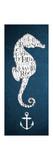 Bath Seahorse I Premium Giclee Print by Elizabeth Medley