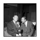 Pierre Brasseur and Bourvil Photographic Print by  Beynon