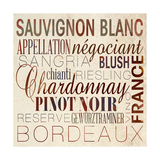 Wine Words II Premium Giclee Print