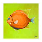 Bright Aquatic Life II Premium Giclee Print by Patricia Quintero-Pinto