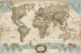 Educational World Map Prints by Elizabeth Medley