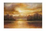 Golden Lake Glow II Art by Michael Marcon
