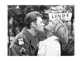 Johnny Hallyday Kissing Sylvie Vartan Photographic Print by  DR