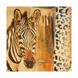 New Safari on Gold Square I Premium Giclee Print by Patricia Quintero-Pinto
