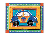 Police Car Giclee Print by Alison Jerry