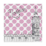 Textile London Premium Giclee Print by Gina Ritter