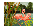 Tropical Flamingo II Posters by Linda Baliko