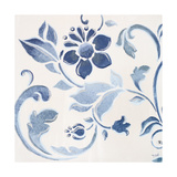 Blue Floral Shimmer II Premium Giclee Print by Tiffany Hakimipour