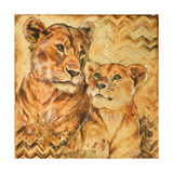 Safari Mother and Son II Premium Giclee Print by Patricia Quintero-Pinto