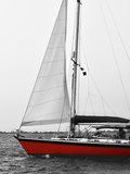 Red Sail Border Photographic Print by Alison Jerry
