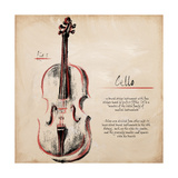 Cello Giclee Print by  Hakimipour-ritter