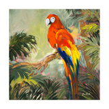 Parrots at Bay I Premium Giclee Print by Jane Slivka