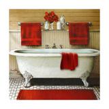 Red Bain III Premium Giclee Print by Elizabeth Medley