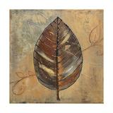 New Leaf II (mustard) Kunstdruck von Patricia Pinto