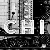 Chi B&W Sqaure Photographic Print by Gail Peck