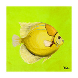 Bright Aquatic Life III Giclee Print by Patricia Pinto