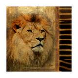 Elegant Safari IV (Lion) Reproduction giclée Premium par Patricia Quintero-Pinto