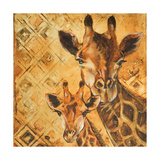 Safari Mother and Son I Premium Giclee Print by Patricia Quintero-Pinto
