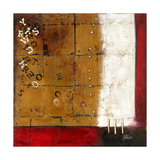 Red Contemporary III Giclee Print by Patricia Pinto