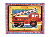 Fire Engine Giclee Print by Alison Jerry