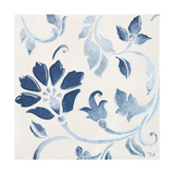 Blue Floral Shimmer I Premium Giclee Print by Tiffany Hakimipour
