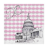 Textile D.C. Premium Giclee Print by Gina Ritter