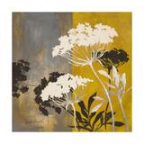 Silhouette Flowers II Print by Lanie Loreth