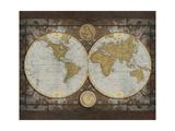 World Map Premium Giclee Print by Elizabeth Medley