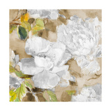 White Modern Peonies II Giclee Print by Lanie Loreth