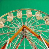 Green Ferris Wheel Photographic Print by Gail Peck