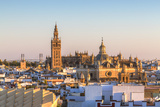 Spain, Andalusia, Seville. High Angle View of the Cathedral with the Giralda Tower Photographic Print by Matteo Colombo