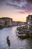 Italy, Veneto, Venice. Grand Canal at Sunset from Rialto Bridge Photographic Print by Matteo Colombo
