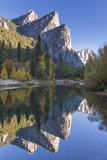 The Three Brothers Reflected in the Merced River at Dawn, Yosemite Valley, California Photographic Print by Adam Burton