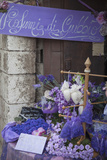 Lavender Display in Shop, Gubbio, Umbria, Italy Photographic Print by Ian Trower
