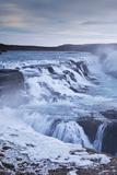 Thundering Gullfoss Waterfall in Winter Time, Iceland, Europe. Winter (January) Photographic Print by Adam Burton