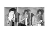 Johnny Hallyday, Backstage Photographic Print