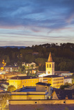 View of Spoleto at Dusk, Umbria, Italy Photographic Print by Ian Trower