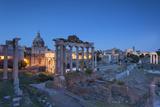 Roman Forum (Unesco World Heritage Site) at Dusk, Rome, Lazio, Italy Photographic Print by Ian Trower