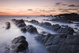 Twilight from the Rocky Shores of Hartland Quay in North Devon, England. Autumn Photographic Print by Adam Burton