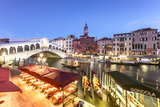 Italy, Veneto, Venice. Rialto Bridge at Dusk, High Angle View Photographic Print by Matteo Colombo