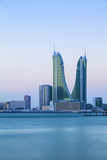 Bahrain, Manama, Bahrain Financial Harbour, Harbour Towers Photographic Print by Jane Sweeney