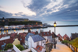 United Kingdom, England, North Yorkshire, Whitby. the Harbour and 199 Steps Photographic Print by Nick Ledger