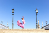 Spain, Andalusia, Seville. Flamenco Dancer Performing in Plaza De Espana Photographic Print by Matteo Colombo