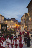 Procession of Medieval Festival of La Quintana in Piazza Arringo, Ascoli Piceno, Le Marche, Italy Photographic Print by Ian Trower